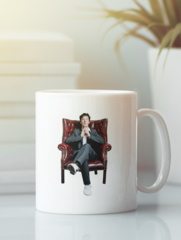 Кружка с рисунком Шерлок (Sherlock, Бенедикт Камбербэтч) белая 006