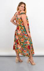 Жасмін. Легке літнє плаття вільного крою великого розміру. Бірюза.