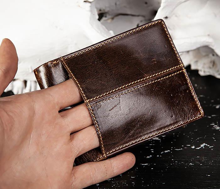 WL329-2 Вместительное мужское кожаное портмоне с монетницей фото 05