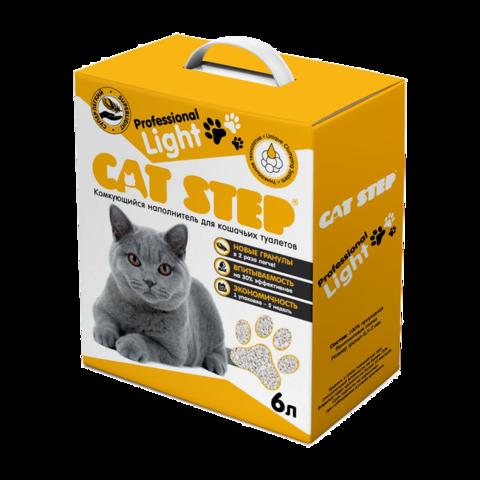 Cat Step Professional Light Наполнитель для туалета кошек комкующийся