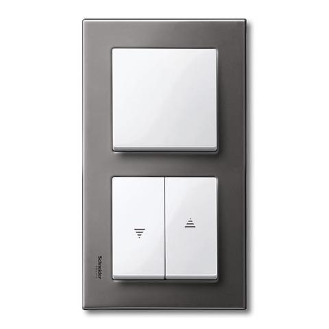 Рамка на 2 поста. Цвет Серый родий. Merten. M-Elegance System M. MTN403214