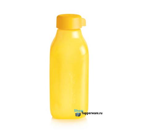 Бутылка Эко квадратная 500 мл в желтом цвете