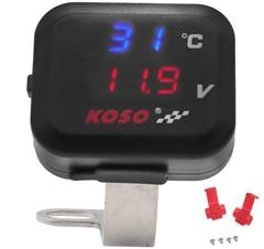 Универсальная USB розетка KOSO с термометром и вольтметром