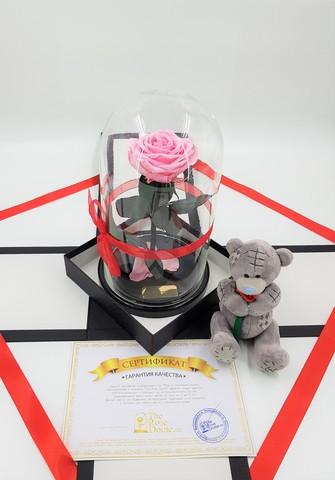 Комплект подарочный Premium Оптом (Выс*Диам*Бутон 27*15*7-8см)Цвет розовый