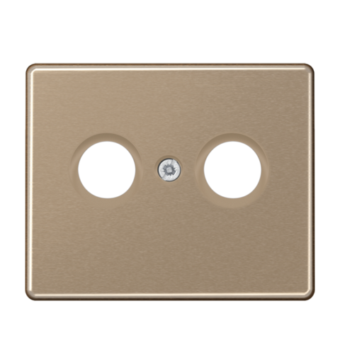 Накладка  двойная для антенных розеток. Цвет Золотая бронза. JUNG SL. SL561TVGB