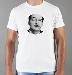 Футболка с принтом  Сальвадор Дали  (Salvador Dalí) белая 002