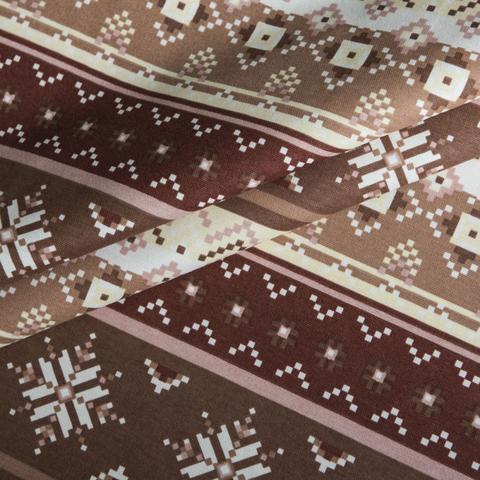 Римская штора из хлопка Тач коричневый