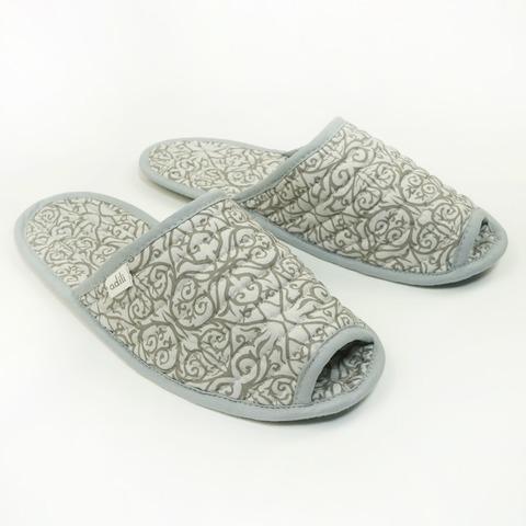 Тапочки для дома мужские бежевые (принт 156-01) Adili