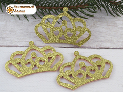 Заготовка корона маленькая золотая № 2