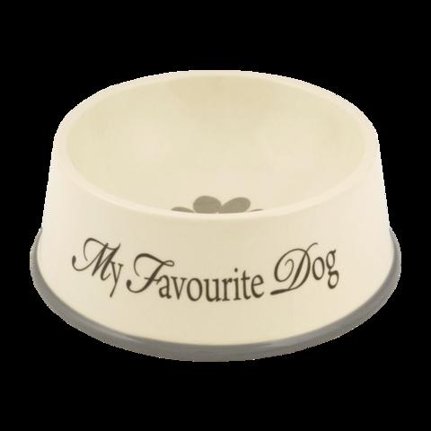 Beeztees My Favorite Миска для собак керамическая с серой окантовкой