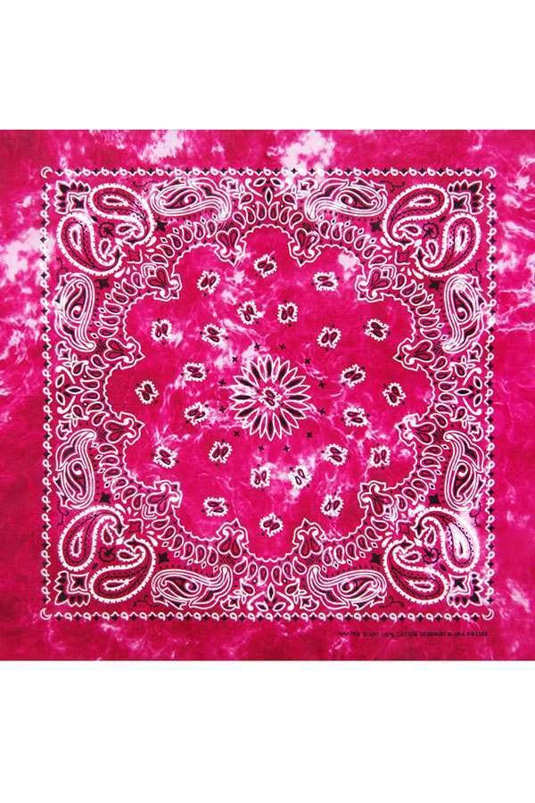 Розовая бандана тай-дай фото