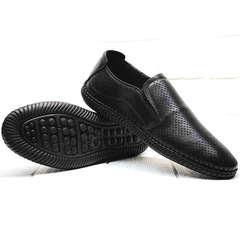 Мужские мокасины слипоны стиль кэжуал Ridge Z-291-80 All Black.