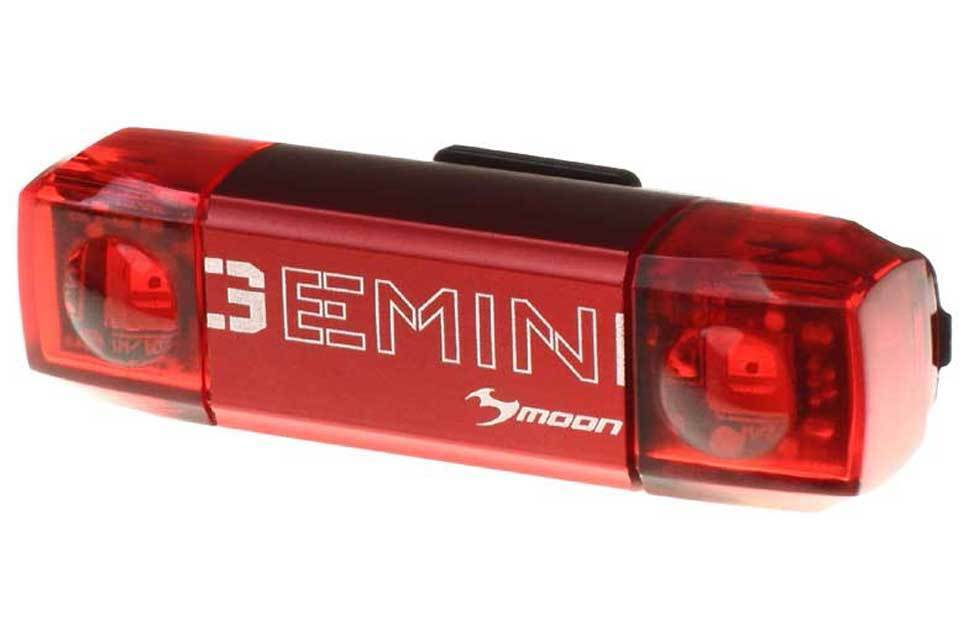 Габаритный фонарь задний Moon Gemini R, 80 люмен, 6 режимов, зарядка от USB. Алюминиевый корпус