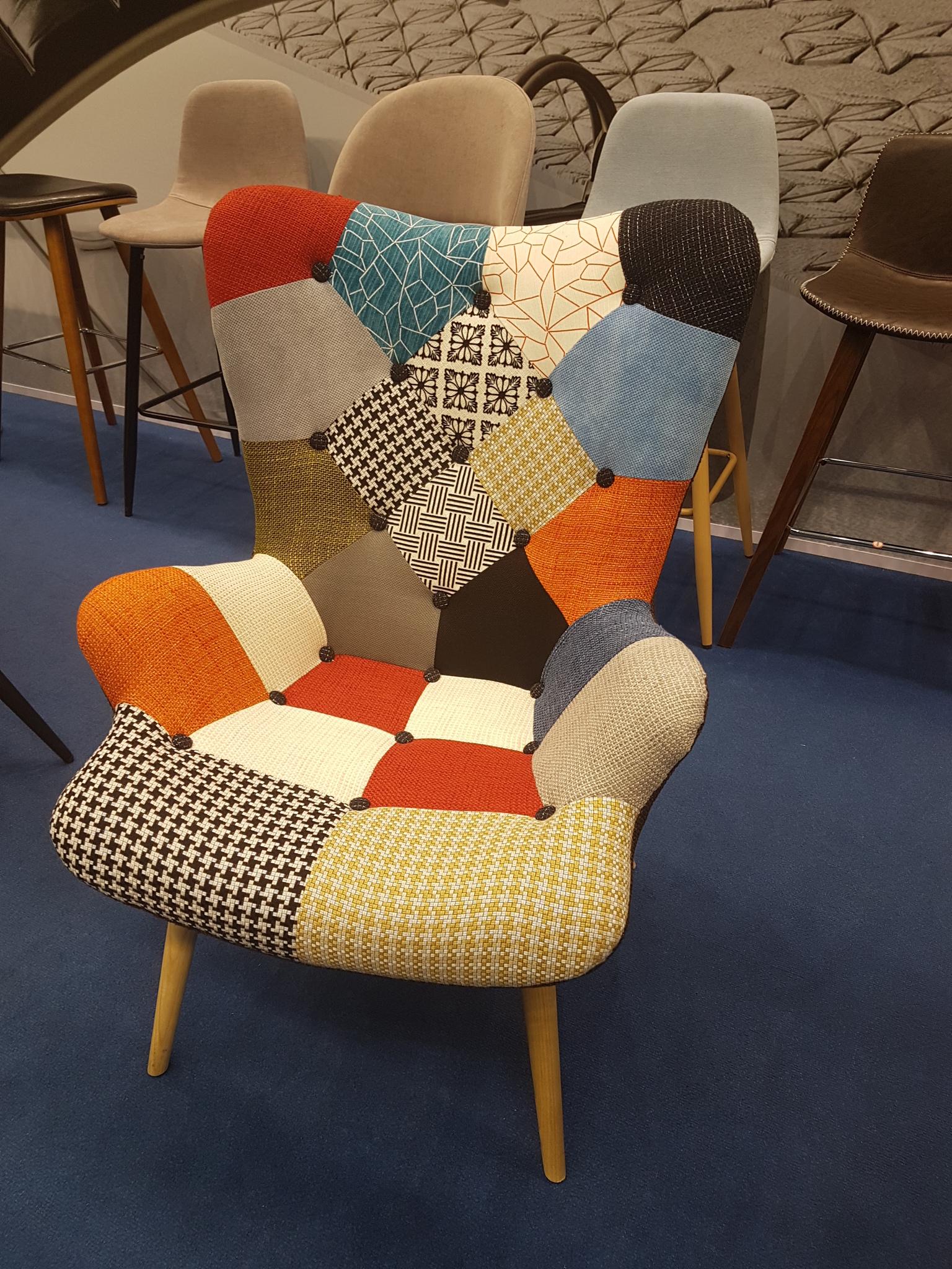Кресло DС-917(P) patchwork-лоскутный микс