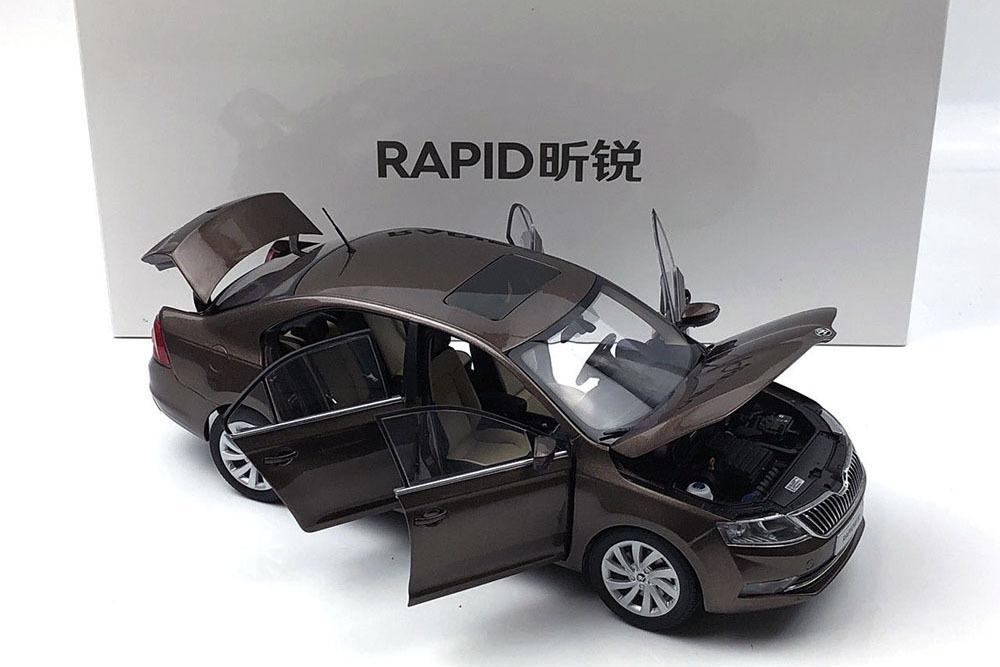 Коллекционная модель SKODA RAPID 2019 BROWN