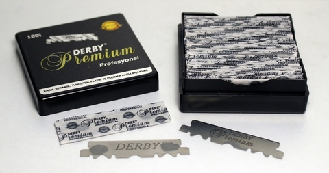Лезвия для шаветок Derby premium 100 шт