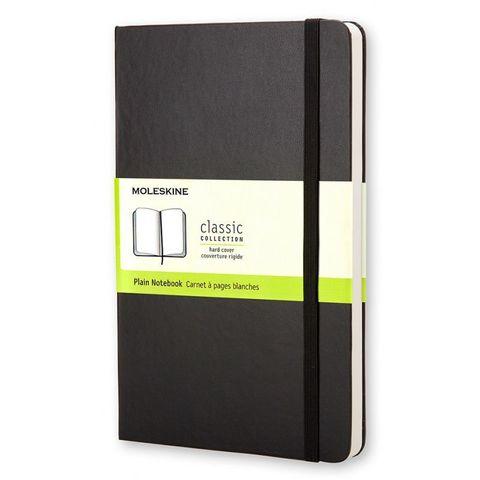Блокнот Moleskine CLASSIC QP062 Large 130х210мм 240стр. нелинованный твердая обложка черный