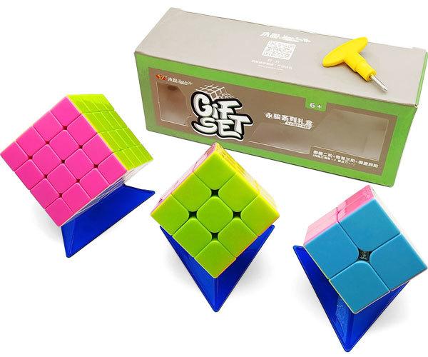 Подарочный набор из трех кубиков рубика