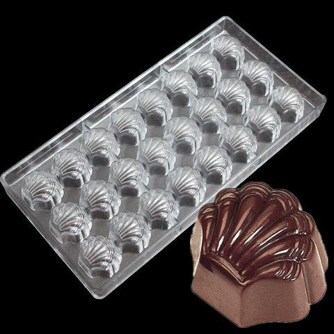 Поликарбонатная форма для шоколада  SHELL РАКУШКИ Круглые 24в1