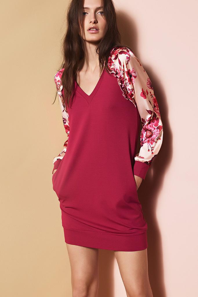 Платье с цветочными рукавами TwinSet