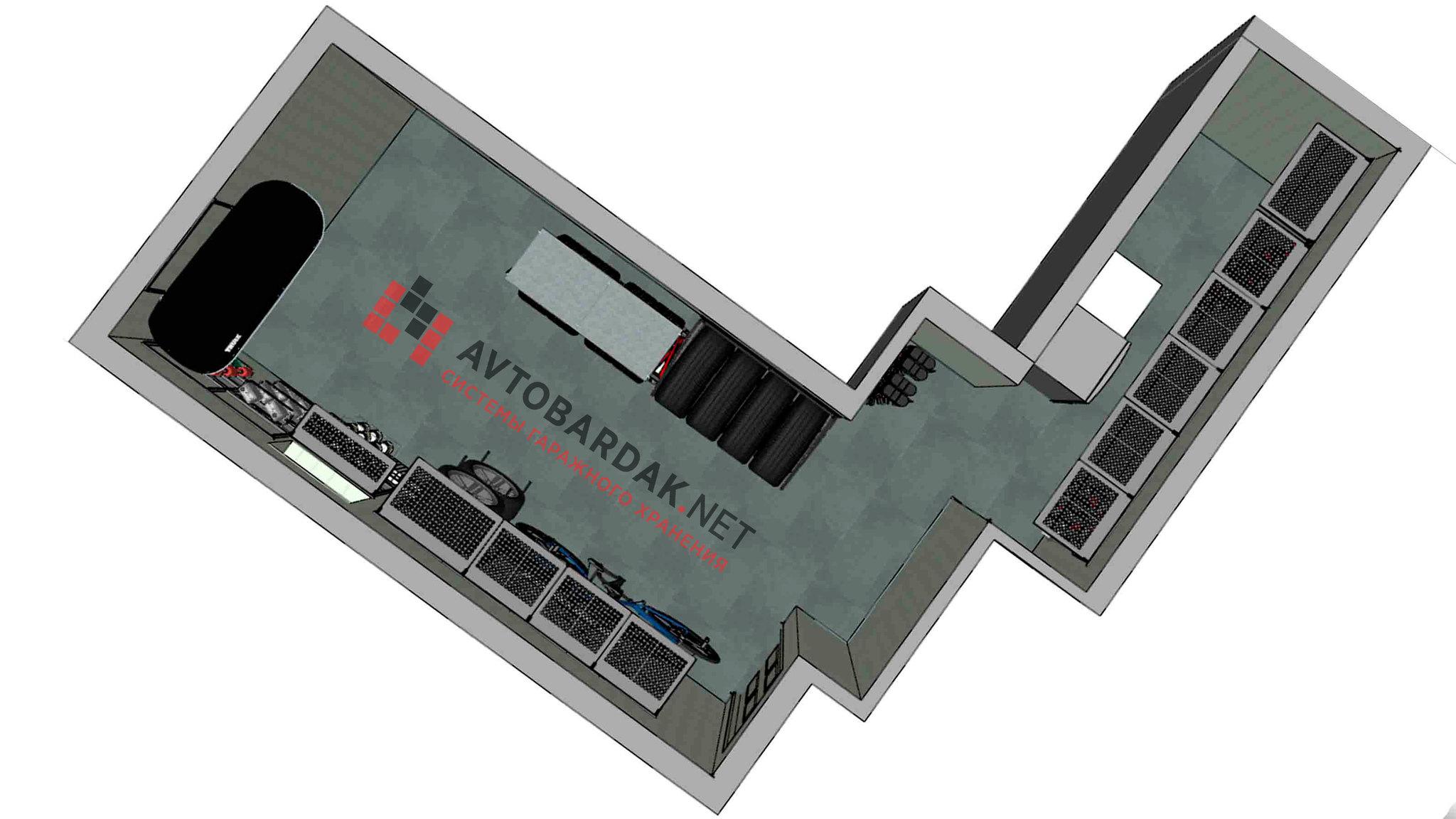 Проект №3: техническое помещение из 2-х комнат (16,6 кв м + 5,2 кв.м)