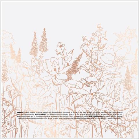 Веллум (калька)  30 х30 см -Heidi Swapp Honey & Spice Specialty Paper -W/Rose Gold Foil