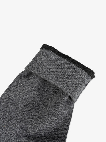 Men's grey knee-high socks