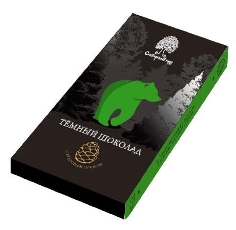 Шоколад темный с кедровым орехом / 100 г
