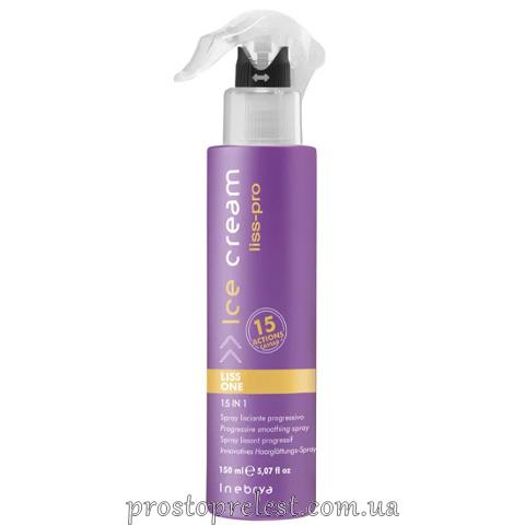 Inebrya Ice Cream Liss Perfect Liss One 15in1 - Разглаживающий спрей для волос 15в1