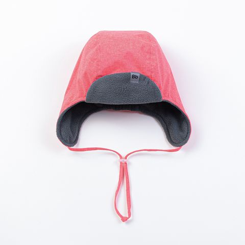 Hat with earflaps - Coral