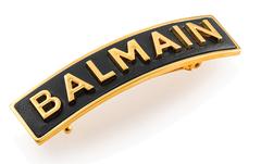Balmain Hair Заколка M цвет черный+ золотой лого B