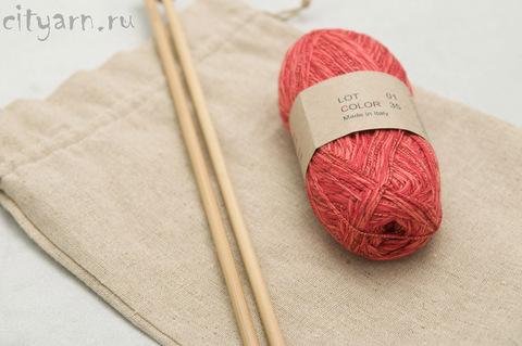 Льняной мешок для рукоделия, размер 20*30 см