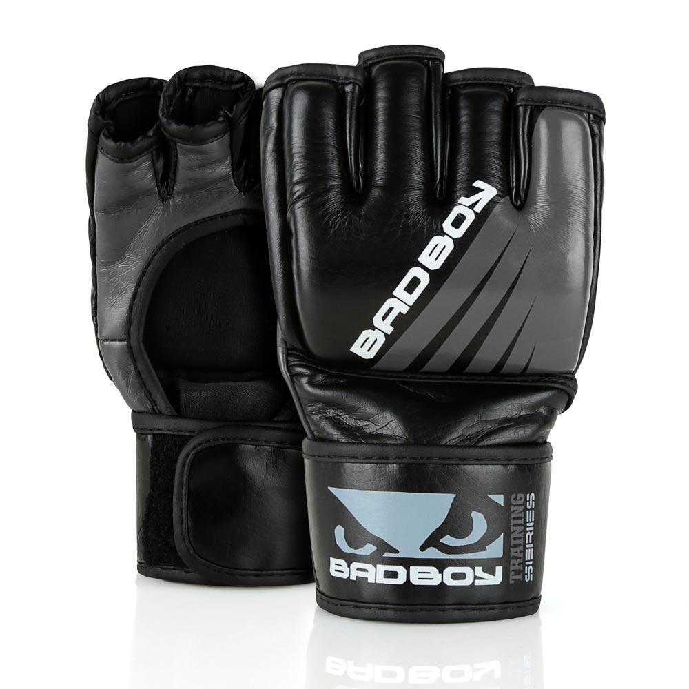 ММА перчатки Перчатки для ММА Bad Boy Training Series Impact Without Thumb Black/Grey 1.jpg