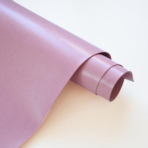 Кожзам переплетный глянцевый, Пыльно-розовый