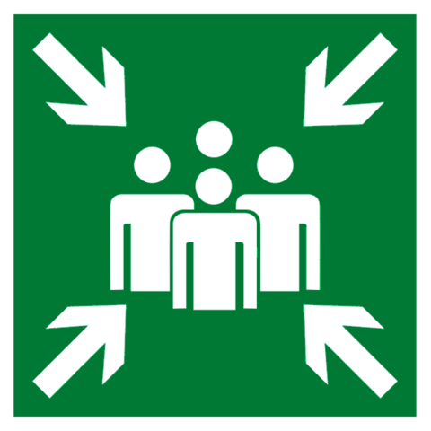 Эвакуационный знак Е21 – Пункт (место) сбора