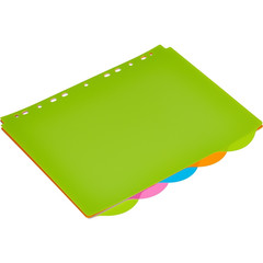 Разделитель листов Attache Selection А4+ пластиковый 5 листов разноцветный (246x305 мм)