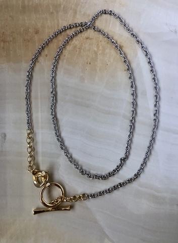 Колье Квантерта, позолота и серебряный цвет