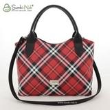 Сумка Саломея 449 шотландский красный + черный