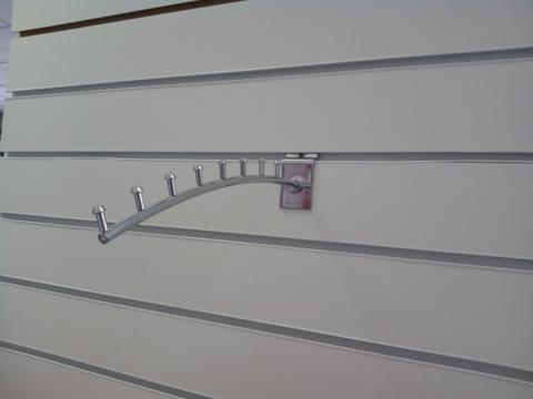 Кронштейн для экономпанели, 8 гвоздиков, хром, L=300 мм, Ø8 мм,010