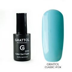 Grattol, Гель-лак 124, Aquamarine, 9 мл