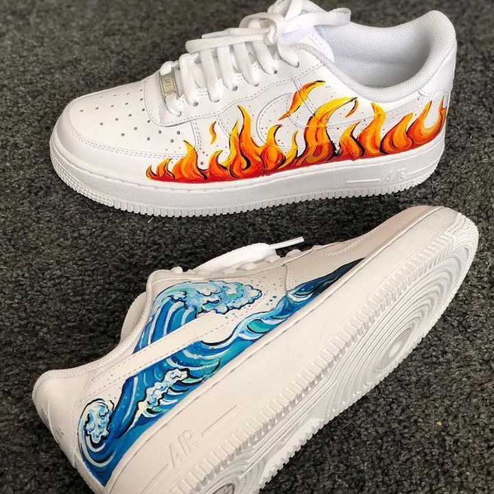 Nike Air Force 1 07 //  Wave & Fire