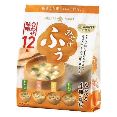 Мисо-суп Хикари 12 порций б/п Ассорти 4 вкуса 198,6гр.