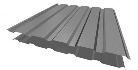 Профнастил НС21х1170 мм RAL 7004 Серый