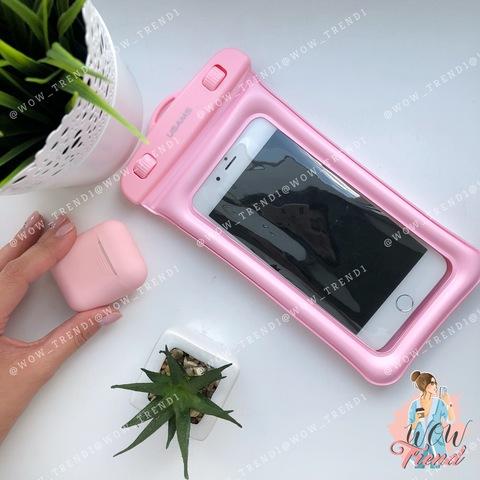 Чехол водонепроницаемый Usams для телефона до 6.0 /pink/ YD007