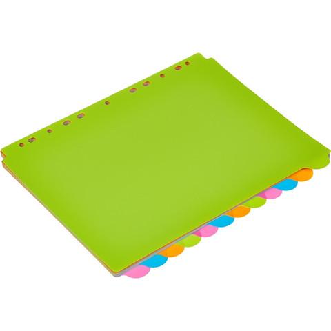 Разделитель листов Attache Selection А4+ пластиковый 12 листов разноцветный (246x305 мм)