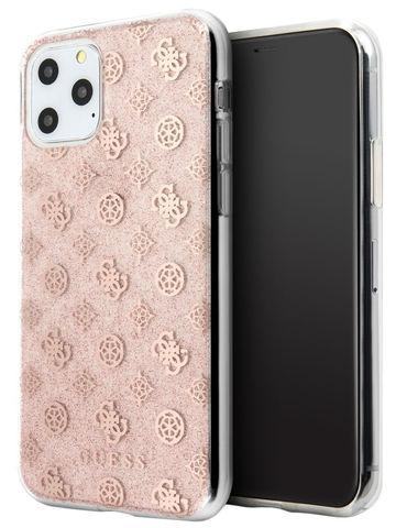Guess / чехол для iPhone 11 Pro | 4G Peony Hard PC/TPU Glitter Pink