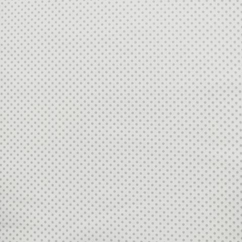 Ткань хлопковая серый горошек 3 мм на белом
