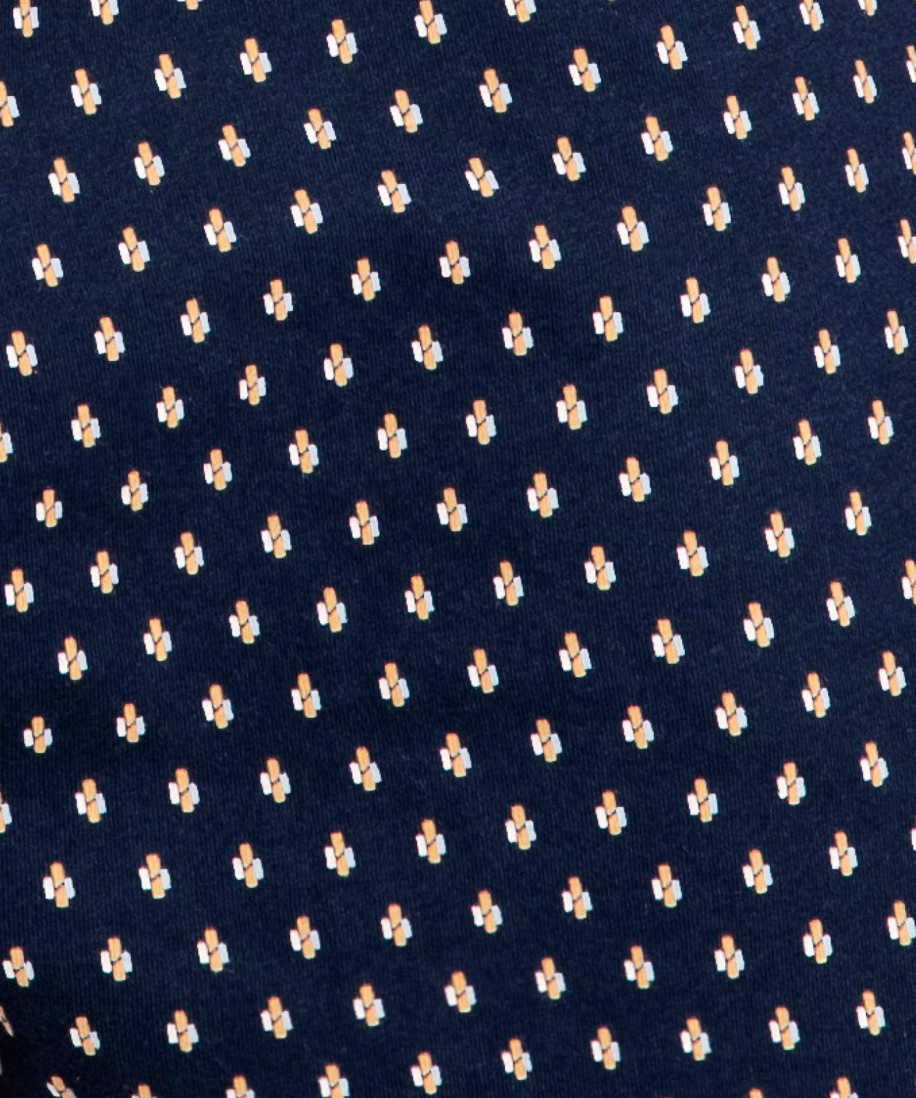 Мужские трусы боксеры Atlantic, набор из 2 шт., хлопок, темно-синие + серый меланж, 2MBX-009