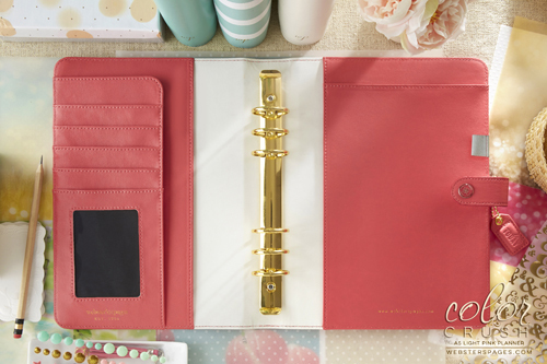 Планер с наполнением. Не датирован.  PLANNER KIT A5: Light Pink by Websters Pages.