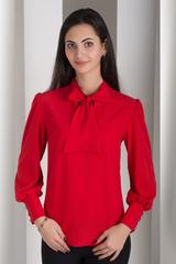 Маркіза. Красива блуза з бантом. Червоний